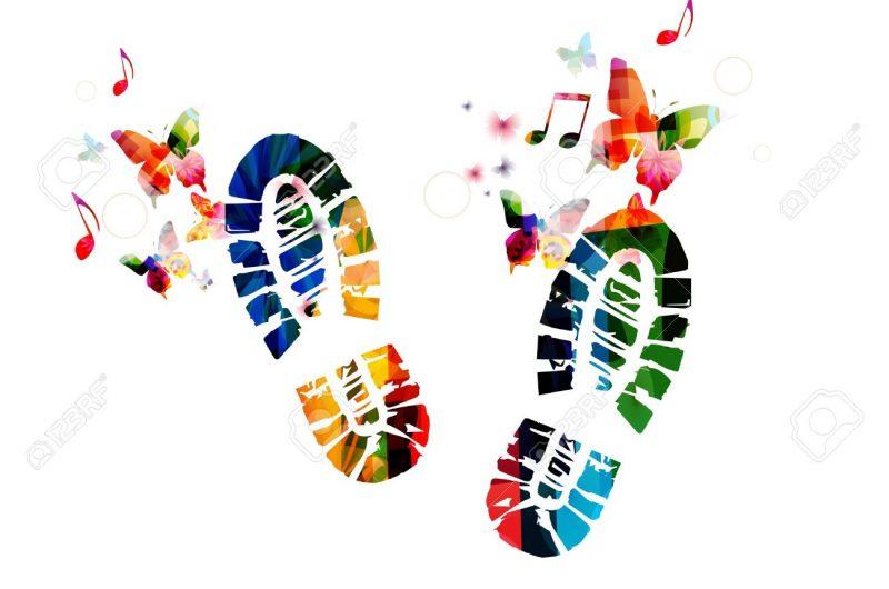 35863149-shoe-footprint-design-with-butterflies